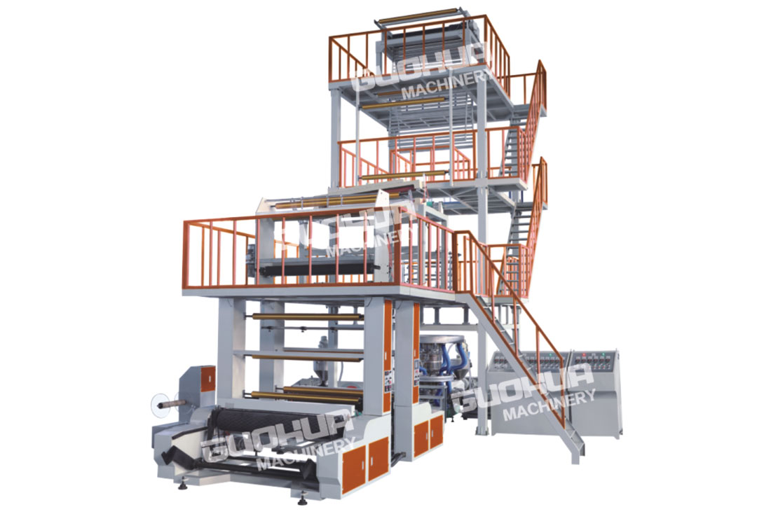 A+B+C Three-layer Co-extrusion Blown Film Machine